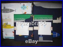 Pottery Barn Kids Submarine Full Duvet Shams Sheet Set 7-pc Summer Shark