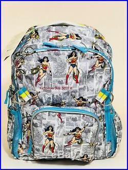 Pottery Barn Kids Superhero Backpack Girls Large Wonder Woman Bookbag Lunchbox