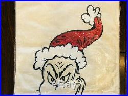 Pottery Barn Kids Teen Grinch CHRISTMAS QUILT Queen Sheet Set Shams Pillow Set