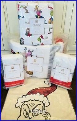 Pottery Barn Kids Teen The Grinch CHRISTMAS QUILT Full Sheet Set Pillow New Set