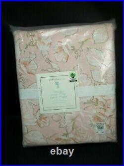 Pottery Barn Kids Tencel Rose Toile Floral Duvet Pink Full Queen #1762