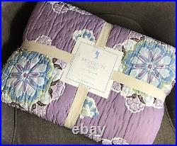 Pottery Barn Kids Twin Quilt Brooklyn NWT Lavender Floral Medallion