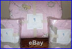 Pottery Barn Kids Unicorn FULL QUEEN quilt 2 standard shams pink PRINCESS