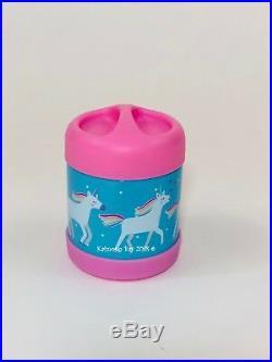 Pottery Barn Kids Unicorn SMALL Backpack Aqua Lunchbox Water Thermos Girls Set 5