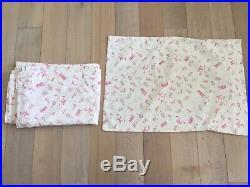 Pottery Barn Kids VINTAGE BARBIE Twin 6p LOT Duvet Sham Sheets Decorative Pillow