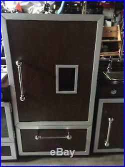 Pottery Barn Kids Walnut Retro Kitchen 3 Set Stove Sink Refrigerator MUST SEE