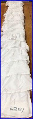 Pottery Barn Kids White Allover Ruffle Blackout Drapes Curtains Panels 84 Set/2