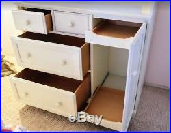 Pottery Barn Kids White Changing Table and Dresser