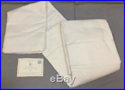Pottery Barn Kids White Evelyn Cotton Lining 96 Drapes Curtains Set/2