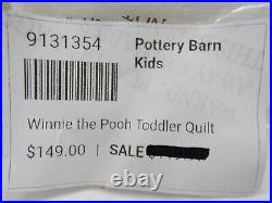 Pottery Barn Kids Winnie the Pooh Toddler Quilt Soft 36x 50 White Multi #3112