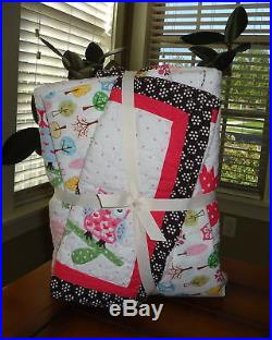 Pottery Barn Kids Woodlands Baby Bedding 3 Pc Set Quilt Sham & Crib Fitted New