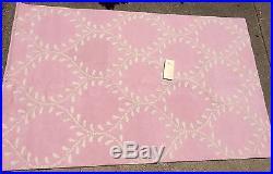 Pottery Barn Kids Wool EVELYN VINE Rug 5x8 Pink & White Nursery $399 @ PB