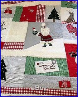 Pottery Barn Kids dear Santa friends Holiday Christmas FULL QUEEN quilt