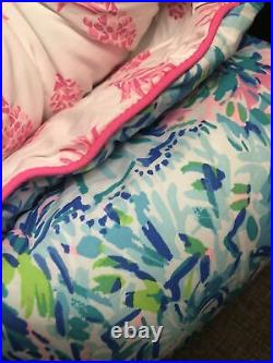 Pottery Barn Lilly Pulitzer Pineapple Party Twin XL Twin Comforter & Euro Sham