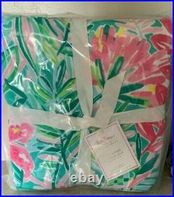Pottery Barn Lilly Pulitzer in Jungle Lilly KING duvet floral tropical