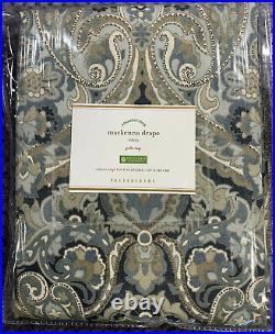Pottery Barn Mackenna Paisley Linen/Cotton Rod Pocket Curtain, 50 x 96