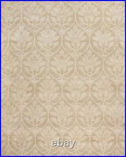 Pottery Barn Medallion Beige Handmade Wool Area Rug 8' x 10