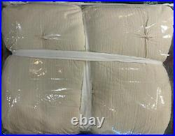 Pottery Barn Natural Soft Cotton Handcrafted Quilt, King/Cal King, FREE SHIPPING