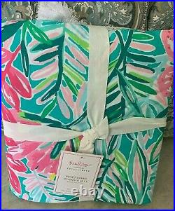 Pottery Barn Pulitzer in Jungle Lilly Percale TWIN duvet cover tassle teen kids