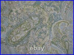Pottery Barn SIENNA Paisley Blue Green KING Duvet Cover & 2 Standard 1 Euro Sham