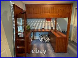 Pottery Barn Sleep and Study Loft Bed-MUST SEE, EXCELLENT CONDITION