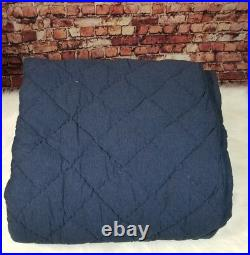Pottery Barn Teen Favorite Tee Quilt Full Queen Navy Blue Stitched
