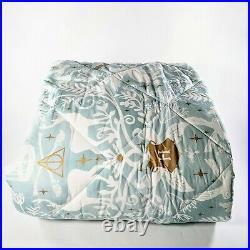 Pottery Barn Teen Harry Potter Magical Damask Comforter Queen Mystic Mint Gift