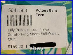 Pottery Barn Teen Lilly Pulitzer Local Flavor Comforter Full/Queen +2 Euro Shams