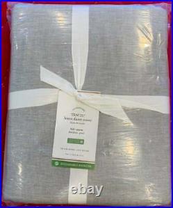 Pottery Barn Tencel Linen Duvet Cover, Full/Queen, Smoke Color, Free Shipping
