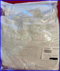 Pottery Barn White TENCEL Duvet Cover, King/Cal. King, Free Shipping