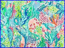 Pottery barn Kids Lilly Pulitzer Organic sheet set in Mermaid's Cove Full Pink
