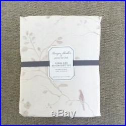 Pottery barn Kids Monique Lhuillier Sateen Floral Bird Sheet set Full