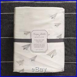 Pottery barn Kids Monique Lhuillier Sateen Scattered Paper Plane Sheet set Full