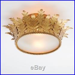Pottery barn Kids Teen Crown Princess Gold Lighting Flushmount New