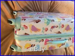Pottery barn kids Mackenzie Aqua Disney Princess Hard Sided Luggage Extra Large