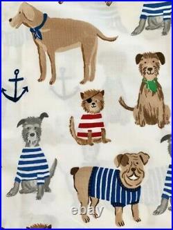 Pottery barn kids Salty Dog Sheet Set FULL Blue Red white Brown