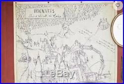 Rare Pottery Barn Harry Potter Hogwarts Map Canvas Art 53 x 75 New with Tags