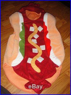 Rare Pottery Barn Kids hotdog costume 2t 3t