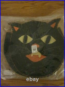 S/4 Pottery Barn Kids Halloween Black Cat Chairbacker Chair Backer NO MONO 2011