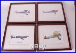 Set/4 NIB Pottery Barn Kids Framed vintage plane airplane art prints