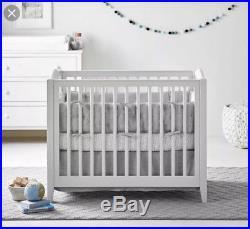 White Pottery Barn Kids Emerson Mini Crib And Mattress